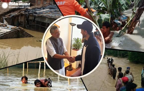 बिहार में बाढ़ के बीच सुपर 30 देखकर फंसे सुशील मोदी, RJD हुई हमलावर