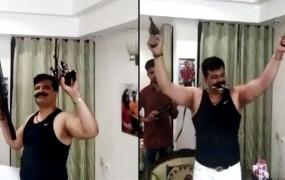 हाथ में बंदूक लेकर डांस करते दिखे बीजेपी MLA प्रणव चैंपियन, वीडियो वायरल