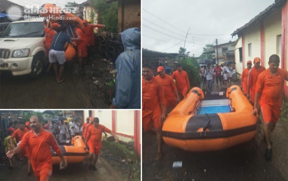 मुंबई में बारिश: पानी में फंसी महालक्ष्मी एक्सप्रेस, सभी यात्रियों को निकाला गया