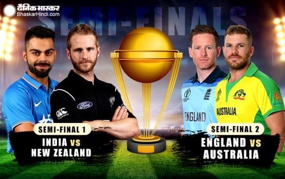 World Cup 2019: सेमीफाइनल में भारत-न्यूजीलैंड और ऑस्ट्रेलिया-इंग्लैंड आमने-सामने