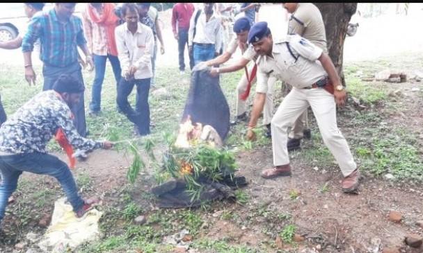 एसपी ऑफिस के सामने आग लगाने वाले कन्हैया की जिला अस्पताल में मौत