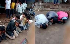 गौरक्षकों ने गौ तस्करी कर रहे 25 लोगों को बांधा, लगवाए 'गौ माता की जय' के नारे