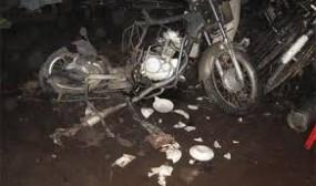 मालेगांवबम धमाका : कोर्ट परिसर में लाई गई इस्तेमाल की गई मोटरसायकिल