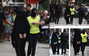 Fake News: बुर्का पहनने पर महिला हुई गिरफ्तार ?