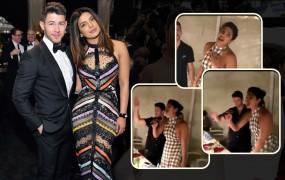 प्रियंका ने गाया जोनस ब्रदर्स का सॉन्ग 'सकर', निक के साथ डांस करती आईं नजर