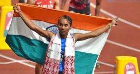 हिमा दास ने दो सप्ताह के अंदर जीता तीसरा गोल्ड