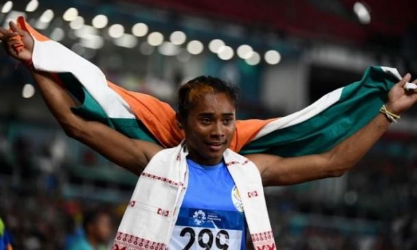 हिमा दास ने जीते सात दिन में दो स्वर्ण, पुरूषों में मोहम्मद अनस ने जीता गोल्ड