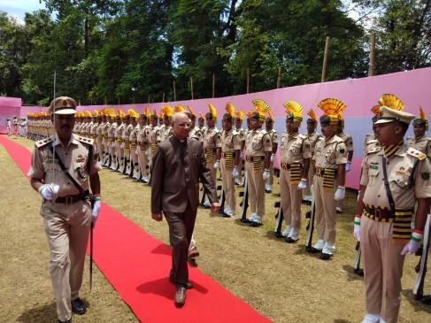 त्रिपुरा के नए राज्यपाल रमेश बैस ने कार्यभार संभाला