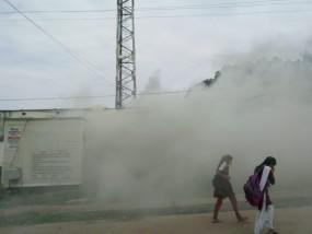घंटों जलता रहा बीएसएनएल टॉवर का बीटीएस ,फोन सेवा ठप , लाखों का नुकसान