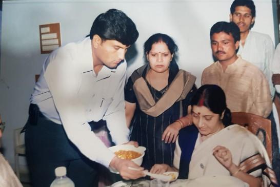 चुनावी सभाओं में हिस्सा लेने चार बार छिंदवाड़ा आईं सुषमा स्वराज