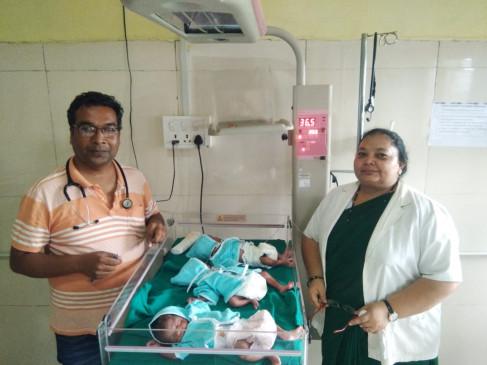 श्रीकृष्ण जन्माष्टमी पर परिवार को मिला तोहफा, एक साथ जन्मे तीन बच्चे ,सभी स्वस्थ्य