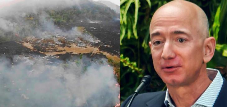 अमेजन जंगल में भीषण आग: लोग Jeff Bezos से मांग रहे मदद, जानें वजह