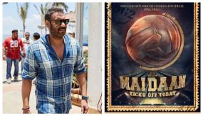 अजय ने शुरु की मैदान की शूटिंग, सोशल मीडिया पर शेयर किया पोस्टर