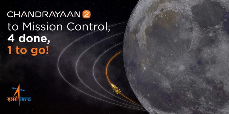 चंद्रयान-2 पहुंचा चांद के और करीब  , 7 सितंबर को केरेगा लैंडिंग