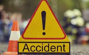 मवेशियों को बचाने की कोशिश में पलट गया टाटा मैजिक, ड्राइवर सहित दो लोगों की मौत