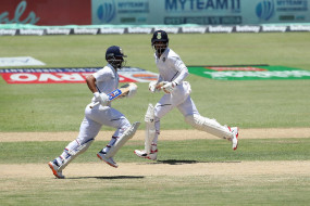 IND VS WI 1st test: पहले दिन भारत ने 6 विकेट पर 203 रन बनाए, रहाणे ने अर्धशतक जड़ा
