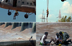जम्मू-कश्मीर: तवी नदी पर एयरफोर्स ने ऐसे बचाई लोगों की जान, देंखे वीडियो