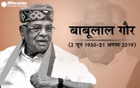मध्य प्रदेश के पूर्व सीएम बाबूलाल गौर का निधन, तीन दिन का राजकीय शोक