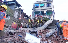महाराष्ट्र: भिवंडी में चार मंजिला इमारत गिरी, दो की मौत,रेस्क्यू ऑपरेशन जारी