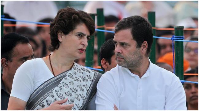 चिदंबरम के समर्थन में राहुल-प्रियंका, कहा- कांग्रेस नेता का चरित्र हनन किया जा रहा