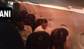 जम्मू-कश्मीर: श्रीनगर एयरपोर्ट पर पहुंचे राहुल गांधी