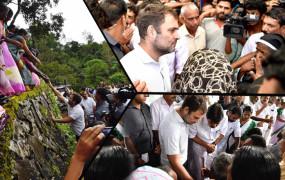वायनाड में बाढ़ पीड़ितों से मिले राहुल, बोले- आपको हक दिलाना मेरा फर्ज