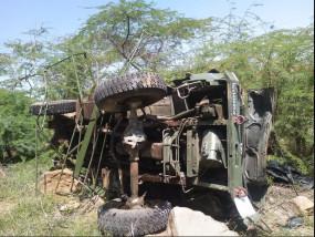 राजस्थान: बाड़मेर में पलटा एयरफोर्स का ट्रक, सेना के तीन जवानों की मौत