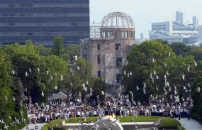 हिरोशिमा दिवस पर दी गई परमाणु हमले में मारे गए लोगों को श्रद्धांजलि