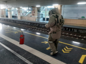 लावारिस टिफिन से मेट्रो स्टेशन पर खलबली