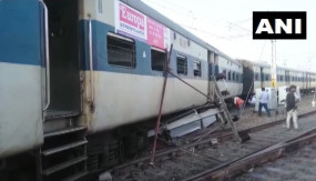 UP: कानपुर में पैसेंजर ट्रेन के चार डिब्बे पटरी से उतरे, रेल सेवा बाधित