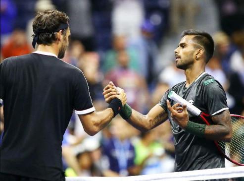 US Open: पहला सेट जीतने के बाद फेडरर से हारे नागल, रोजर ने कहा-वे अच्छे खिलाड़ी हैं