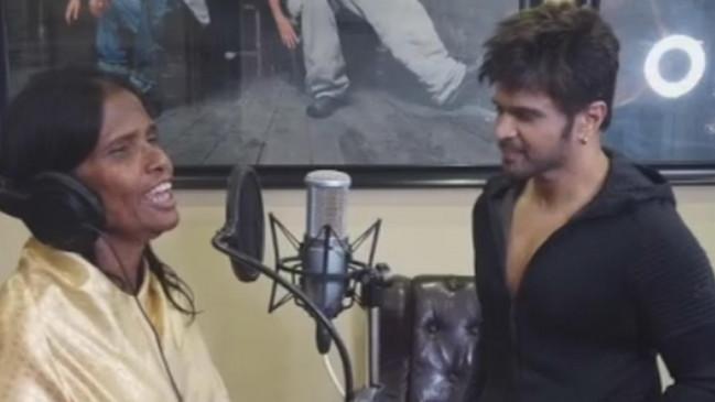 VIDEO VIRAL: अब रानू मंडल ने बॉलीवुड में मारी एंट्री, हिमेश के साथ रिकॉर्ड किया गाना