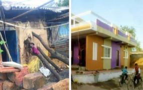 झोपड़ी में रह रही थीं शहीद की पत्नी, ग्रामीणों ने चंदा कर बनवाया पक्का मकान