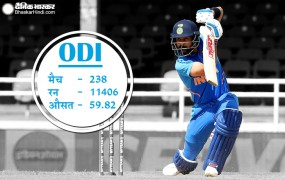 कोहली ने गांगुली को पीछे छोड़ा, वनडे में दूसरे सर्वोच्च भारतीय स्कोरर बने