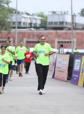 पीएसपीबी दिल्ली इंटरनेशनल हाफ मैराथन में 5000 धावकों ने लिया भाग