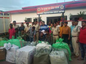 सरगना समेत आरपीएफ के हत्थे चढ़े पार्सल चोर गिरोह के 6 सदस्य -70 हजार का सामान बरामद