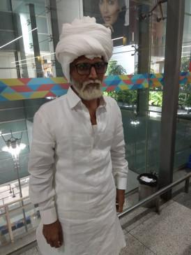 दिल्ली: एयरपोर्ट पर 81 साल के बूढ़े के लिबास में निकला 32 साल का लड़का