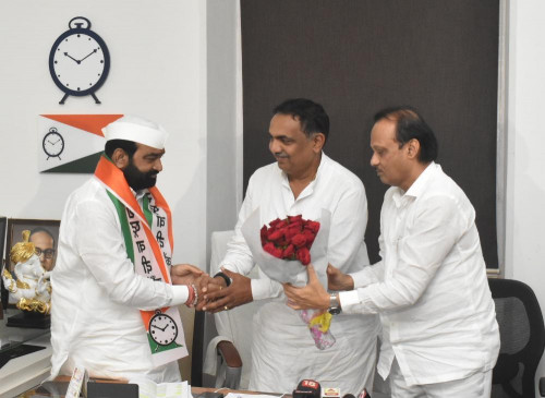 भाजपा नहीं राकांपा में शामिल हो गए कांग्रेस विधायक, अजित पवार ने कहा - अभी कई होंगे शामिल