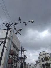 कई कैमरे बंद, शहर में जगह -जगह चल रहा है निर्माणकार्य