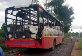 शिवकुमार की गिरफ्तारी के बाद प्रदर्शन, बसें जलाईं, कांग्रेस ने बुलाया बंद