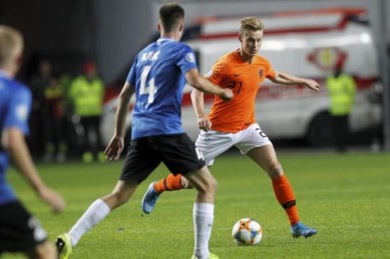 यूरो क्वालीफायर्स : नीदरलैंड्स ने एस्टोनिया को 4-0 से हराया
