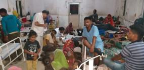 मध्यान्ह भोजन में छिपकली - 18 बच्चे बीमार : सभी जिला अस्पताल में भर्ती
