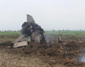 MP के भिंड में वायुसेना का फाइटर प्लेन मिग-21 क्रैश, दोनों पायलट सुरक्षित