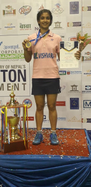 नागपुर की मालविका ने नेपाल में दिखाया दम, एक सप्ताह में लगातार दूसरा अंतरराष्ट्रीय खिताब