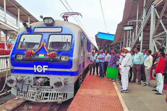 3 फेज आधुनिक मेमू ट्रेन अपनी तरह की पहली ट्रेन, शीघ्र होगी संचालित