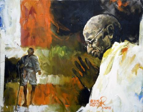 गांधी के नाम पर ढकोसला कर रहीं पार्टियां : वयोवृद्ध गांधीवादी