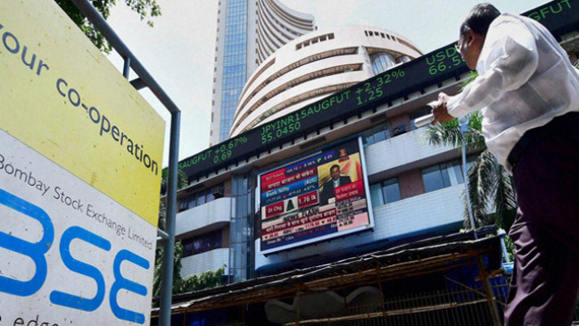 जबरदस्त तेजी के बाद शेयर बाजार में गिरावट, सेंसेक्स 503 अंक लुढका