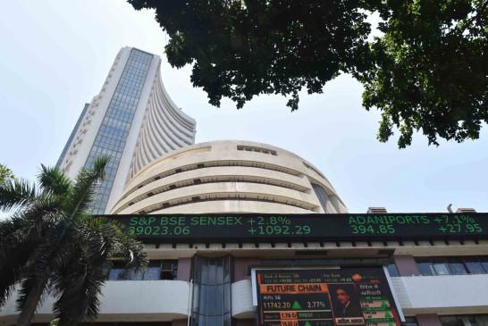 शेयर बाजार में तेज गिरावट, 312 अंक लुढ़का सेंसेक्स