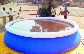 शहर में 200 कृत्रिम तालाब तैयार, 100 और लगेंगे, विसर्जन का सिलसिला जारी