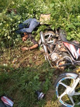 ट्रैक्टर ने बाइक को मारी टक्कर, 2 की मौत -आरोपी चालक फरार